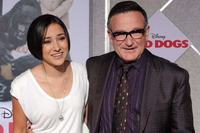 Zelda Williams (L) and Robin Williams at the Los Angeles premiere of Old Dogs on November 9, 2009. File Photo by Jim Ruymen/UPI