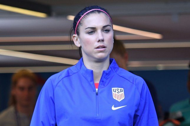 United States Women's National Team star Alex Morgan made five appearances for Tottenham and scored two goals. File Photo by David Silpa/UPI