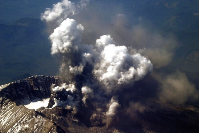 On May 18, 1980, Mount St. Helens in southwestern Washington state erupted, blowing the top off the mountain and killing 57 people. File Photo by Scott Taylor/U.S. Navy
