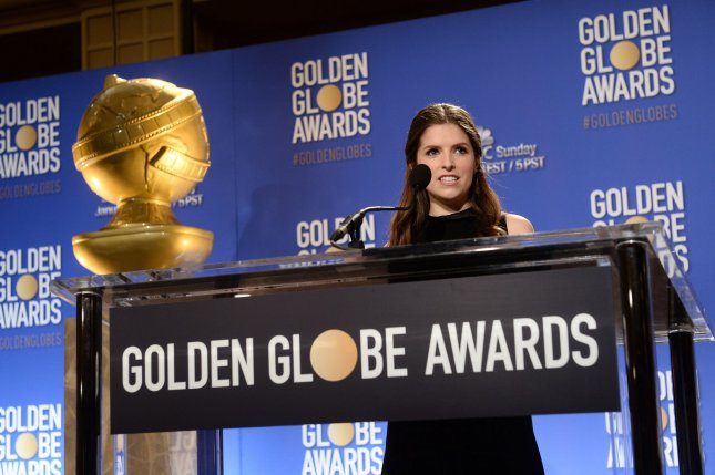 Anna Kendrick announces the nominees for the 74th annual Golden Globe Awards at the Beverly Hilton Hotel in Beverly Hills, California on December 12. Photo by Jim Ruymen/UPI