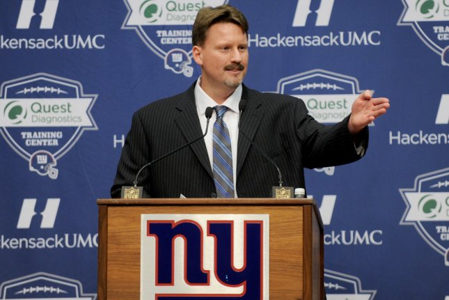 New York Giants new head coach Ben McAdoo speaks at his introduction press conference at MetLife Stadium in East Rutherford, New Jersey on January 15, 2016. File photo by Dennis Van Tine/UPI