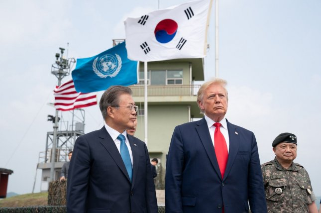 North Korean officials threatened to leave South Korea out of future discussions with the United States over joint military operations between the two countries. File White House Photo by Shealah Craighead/UPI