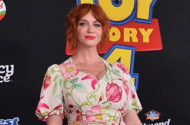 Christina Hendricks said her hand is pictured in the iconic poster for American Beauty. File Photo by Jim Ruymen/UPI