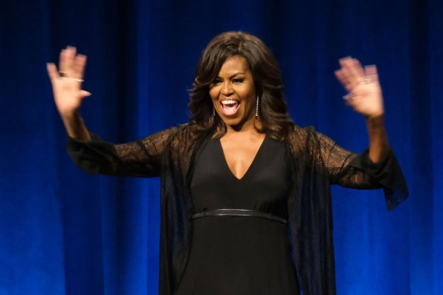 Former First Lady Michelle Obama's best-selling memoir Becoming is getting a companion journal. File Photo by Gary I Rothstein/UPI