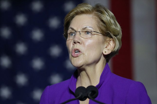Democratic presidential candidate and Sen. Elizabeth Warren vowed to invest more in federal agencies to better handle global health threats like coronavirus. File Photo by John Angelillo/UPI