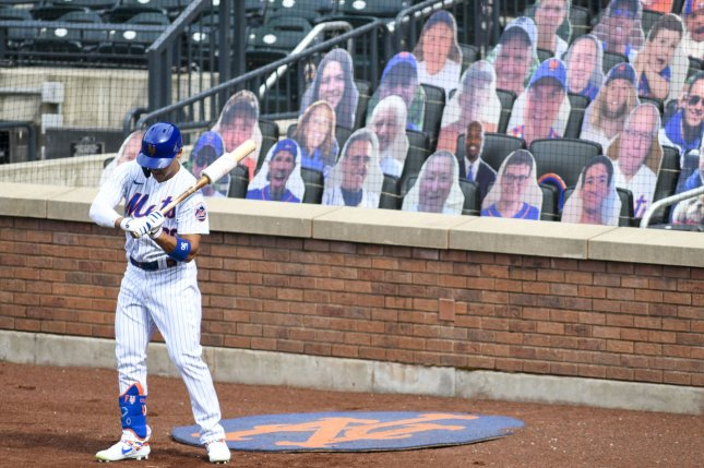 MLB stadiums will have cardboard cutouts of fans and virtual supporters this season as many teams have banned fans from attending games due to the coronavirus pandemic. File Photo by Corey Sipkin/UPI