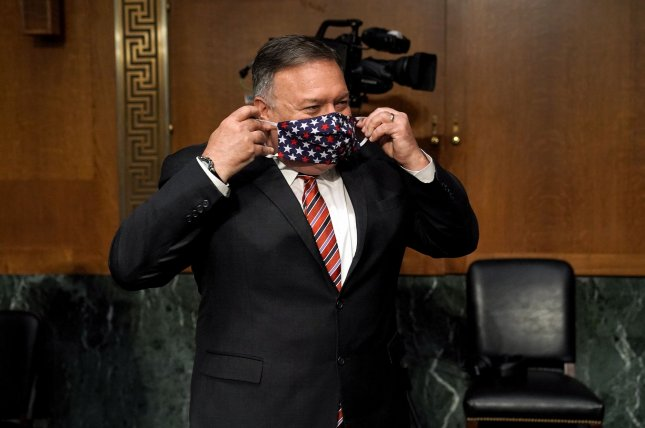 Secretary of State Michael Pompeo criticized other member states of the U.N. Security Council after most voted Friday against a U.S. resolution to extend an arms embargo on Iran. File Photo by Greg Nash/UPI