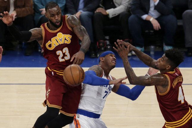LeBron James Goes Down After Collision With Tristan Thompson
