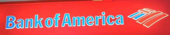 The name and symbol of Bank of America on a ATM machine in New York on February 24, 2009. (UPI Photo/Ezio Petersen)