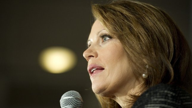Rep. Michele Bachmann (R-MN) talks to reporters in January. UPI/Brian Kersey