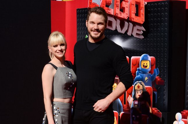 Cast member Chris Pratt, the voice of Emmet Brickowoski in the animated comedy motion picture The Lego Movie attends the premiere of the film with his wife, actress Anna Faris at the Regency Village Theatre in the Westwood section of Los Angeles on Feb. 1, 2014. Pratt opened up about the premature birth of the couple's son at a recent March of Dimes fundraiser event. File photo by Jim Ruymen/UPI