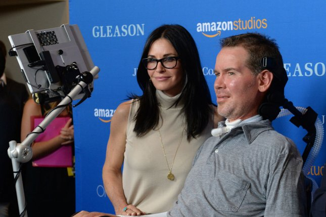 Actress Courtney Cox and Steve Gleason attend the motion picture documentary Gleason on July 14, 2016 at Regal L.A. Live in Los Angeles. File photo by Jim Ruymen/UPI