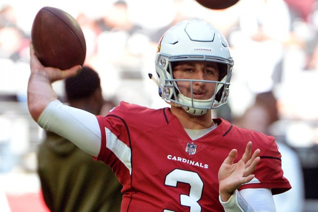 Arizona Cardinals quarterback Josh Rosen received sharp criticism from former Carolina Panthers wide receiver Steve Smith after the Cardinals signal-caller unfollowed the team's social media channels. File Photo by Art Foxall/UPI
