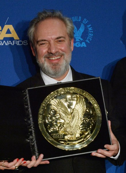 DGA Feature Film Award winner for 1917 Sam Mendes appears backstage with his award during the 72nd annual Directors Guild of America Awards in Los Angeles on Saturday. Photo by Jim Ruymen/UPI