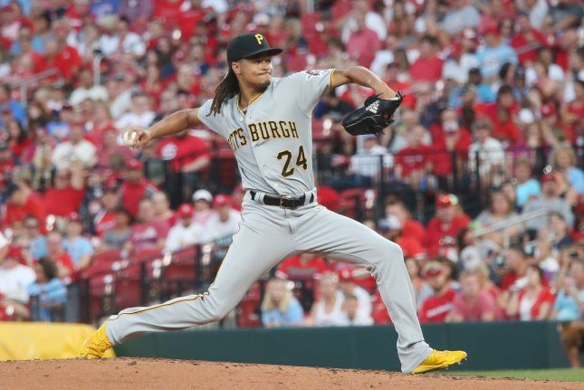 Pittsburgh Pirates starting pitcher Chris Archer didn't pitch for Pittsburgh in the 2020 campaign. He opted to undergo season-ending surgery on June 2 to relieve symptoms of thoracic outlet syndrome. File Photo by Bill Greenblatt/UPI