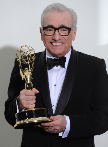 Martin Scorsese holds his Emmy for Outstanding Directing for a Drama Series for the pilot of Boardwalk Empire. at the 63rd Primetime Emmy Awards at the Nokia Theatre in Los Angeles on September 18, 2011. UPI/Jayne Kamin Oncea