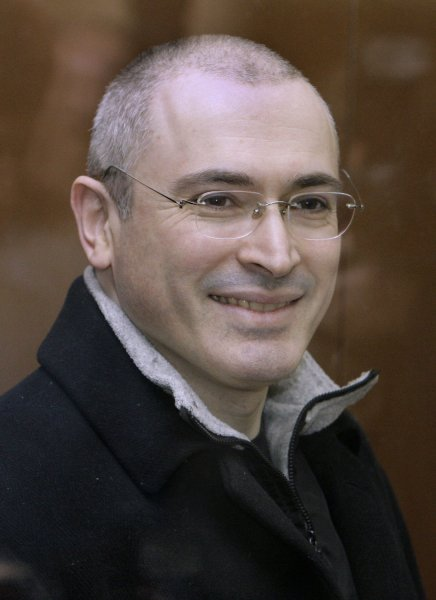 Former Yukos CEO and billionaire Mikhail Khodorkovsky arrives at a court in Moscow on March 31, 2009. Khodorkovski's lawyer requested the court on Tuesday the testimony of Prime Minister Vladimir Putin and numerous top Russian politics. (UPI Photo/Anatoli Zhdanov)