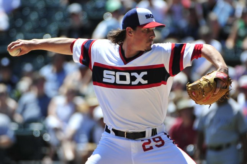 Chicago White Sox starting pitcher Jeff Samardzija. Photo by David Banks/UPI