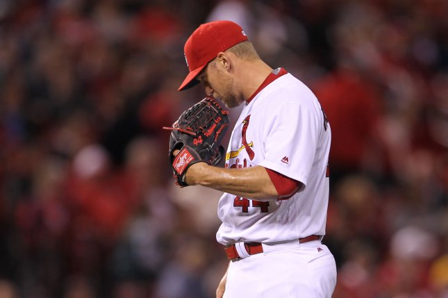 St. Louis Cardinals pitcher Trevor Rosenthal. Photo by Bill Greenblatt/UPI