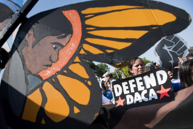 A federal judge ruled the Department of Homeland Security must resume accepting applications to the Deferred Action for Childhood Arrivals program if it is unable to provide a reason why it is unlawful. File Photo by Kevin Dietsch/UPI
