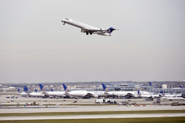 United Airlines said the no-cost tests will allow the carrier to provide the safest travel experience possible. File Photo by Brian Kersey/UPI