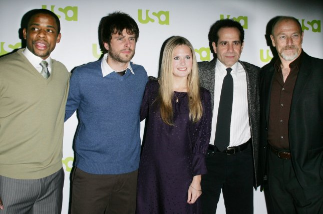 USA Network stars (left to right) Dule Hill, Joel Gretsch, Maggie Lawson, Tony Shalhoub, and Corbin Bernsen attend the USA Network 2007 Upfront event for new and returning programs which will be part of the cable television's upcoming lineup on March 28, 2007 in New York City. (UPI Photo/Monika Graff).