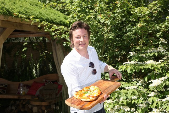 Celebrity chef Jamie Oliver, whose Italian restaurant in Birmingham has been heavily damaged by rioters. UPI/Hugo Philpott