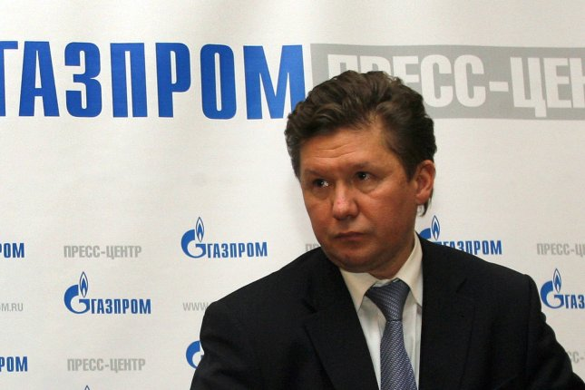 Russian gas monopoly Gazprom chief Alexei Miller touts legacy of flexibility in performance in a message to shareholders. File photo by Anatoli Zhdanov/UPI