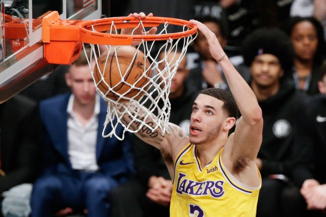 ed8f4881ba4 Lakers lose Lonzo Ball for 4 to 6 weeks - UPI.com