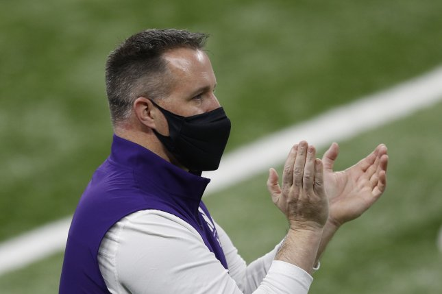 Northwestern Wildcats head coach Pat Fitzgerald is the winningest coach in program history with a 106-81 record across 15 seasons. File Photo by Aaron Josefczyk/UPI