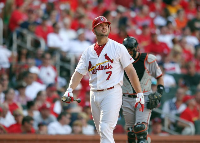 St. Louis Cardinals Matt Holliday at Busch Stadium in St. Louis, May 30, 2011. UPI/Bill Greenblatt