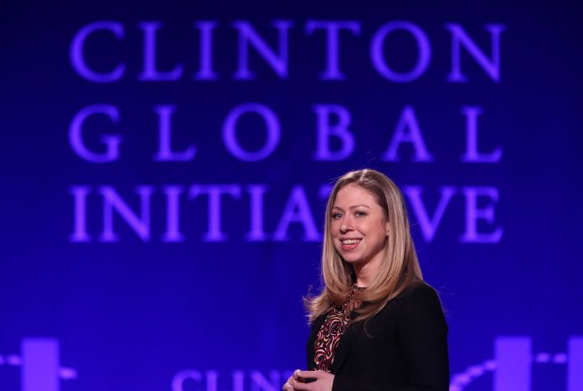 Chelsea Clinton delivers comments prior to the start of the Clinton Global Initative at Washington University in St. Louis on April 5, 2013. The mission of the Clinton Global Initiative (CGI) is to turn ideas into action. UPI/Bill Greenblatt