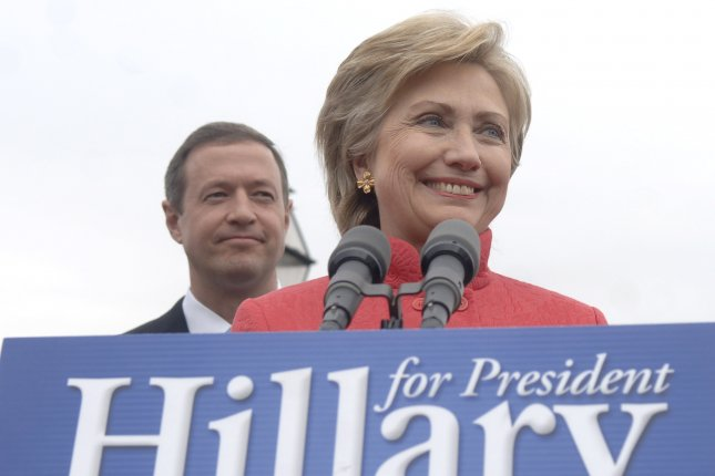 Former Maryland Gov. Martin O'Malley (left) is expected to declare his candidacy for the 2016 Democratic presidential nomination during a rally on Saturday, May 30, 2015. If he joins the race, he will take on former Secretary of State Hillary Clinton, who he endorsed and campaigned for during her 2008 presidential bid. File Photo: UPI Photo/Kevin Dietsch