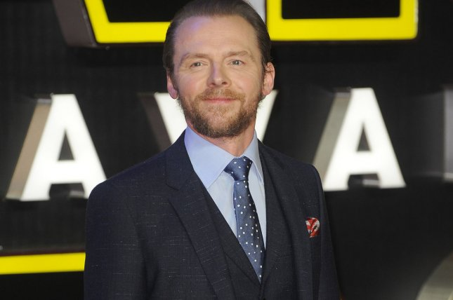 Simon Pegg at the London premiere of Star Wars: The Force Awakens on Dec. 16. The actor said there's more to Star Trek Beyond than action. File Photo by Paul Treadway/UPI