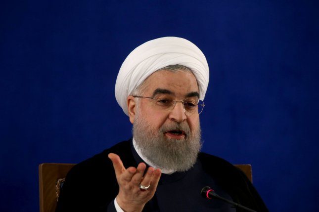 Iranian President Hassan Rouhani during a speech to parliament on Tuesday said his country could back out of its nuclear agreement responsibilities in hours or days if U.S. President Donald Trump's administration imposes sanctions. File Photo by Maryam Rahmanian/UPI