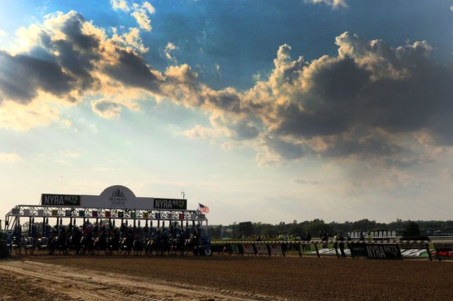 Derby contenders Haikal and Tax both put in works at Belmont Park on Thursday and are due in Louisville on Monday. File Photo by Mark Abraham/UPI