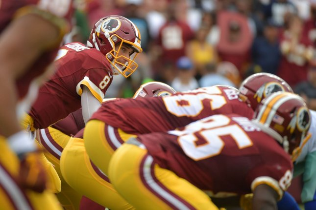 Washington Redskins quarterback Kirk Cousins. Photo by Kevin Dietsch/UPI