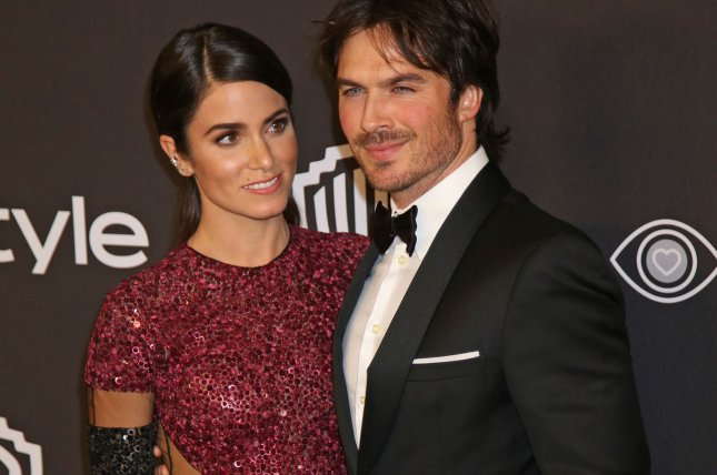 Nikki Reed (L) and Ian Somerhalder attend the 18th annual InStyle and Warner Bros. Golden Globe after-party at the Beverly Hilton Hotel in Beverly Hills on January 8. The couple are expecting their first child. File Photo by David Silpa/UPI