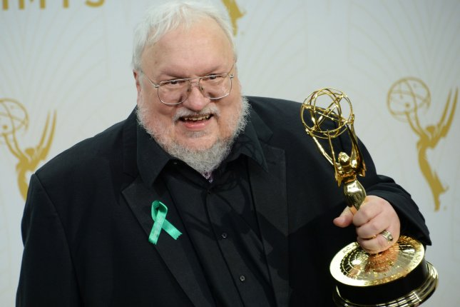 George R.R. Martin attends the Primetime Emmy Awards on September 20, 2015. The author said Sunday that there are five successor shows to Game of Thrones in development at HBO. File Photo by Jim Ruymen/UPI