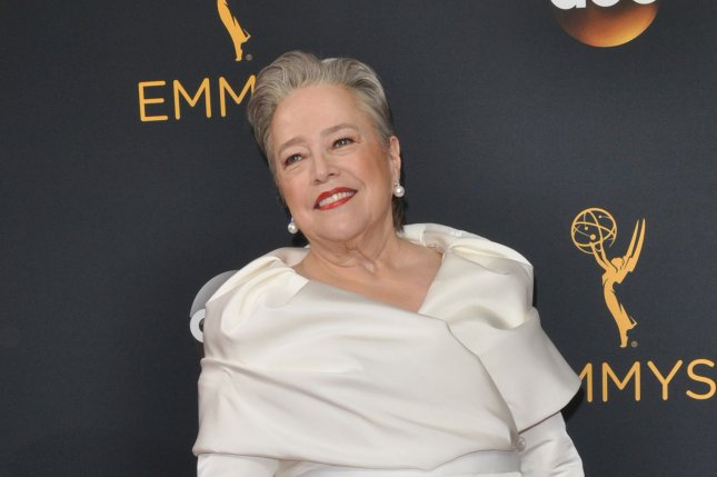 Kathy Bates arrives for the 68th annual Primetime Emmy Awards at Microsoft Theater in Los Angeles on September 18, 2016. The actor turns 70 on June 28. File Photo by Christine Chew/UPI