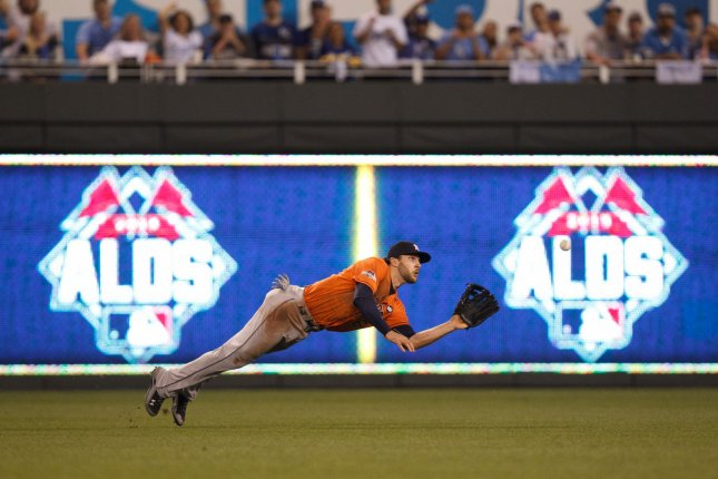 Jake Marisnick and the Houston Astros face the Tampa Bay Rays on Friday. Photo by Jeff Moffett/UPI