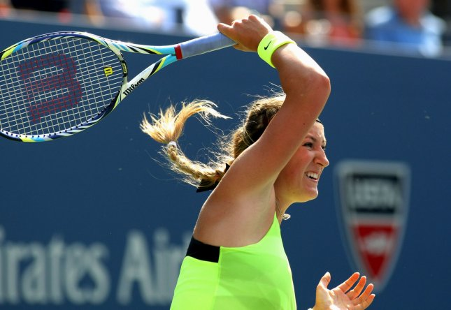 Victoria Azarenka, shown at the 2012 U.S. Open, was a thrree-set winer Saturday in collecting her second Australian Open title. She beat Li Na 4-6, 6-4, 6-3. UPI Photo/Monika Graff