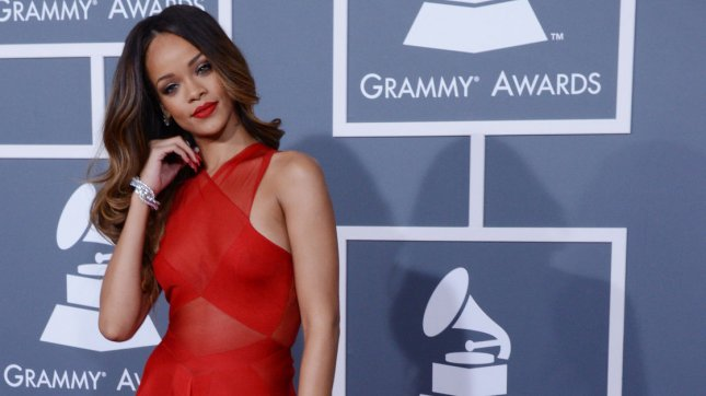 Rihanna arrives at the 55th annual Grammy Awards at Staples Center in Los Angeles on February 10, 2013. UPI/Jim Ruymen
