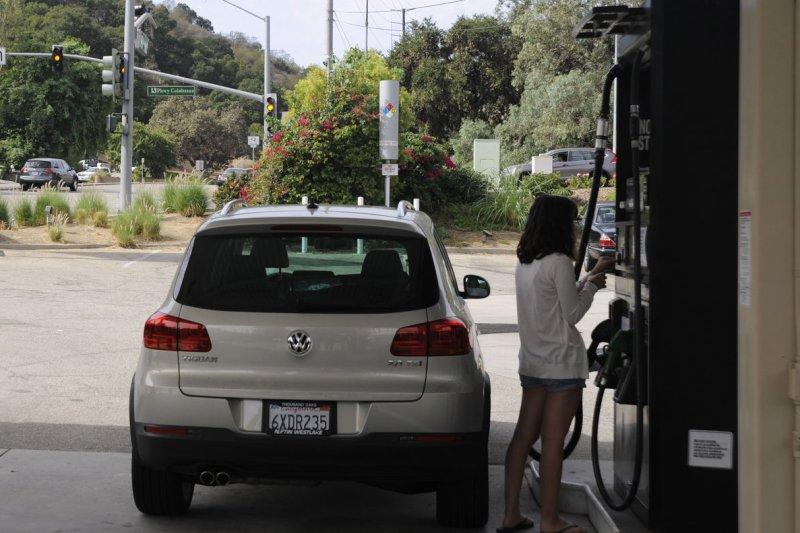 U.S. crude oil exports would make gasoline cheaper, report says. UPI/ Phil McCarten