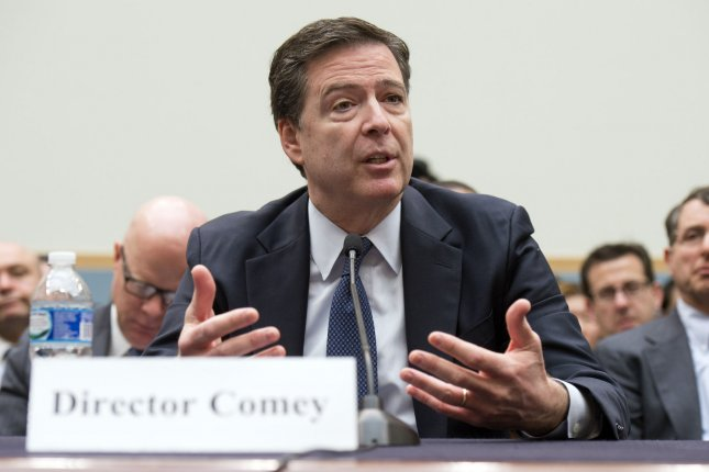 FBI Director James B. Comey, seen here on March 1, spoke to Kenyon College in Ohio on Wednesday. He said the agency purchased a tool from a private party to access the iPhone used by one of the San Bernardino shooters. File Photo by Kevin Dietsch/UPI