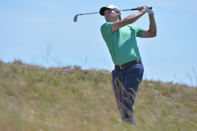 Kevin Kisner tees off on the second hole during the third round of the 115th U.S. Open Championship at Chambers Bay on June 20, 2015. Kisner took the Dean & DeLuca title at Colonial Country Club in Fort Worth on Sunday. File photo by Kevin Dietsch/UPI