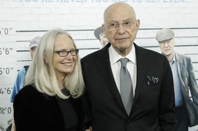 Alan Arkin (R) and Suzanna Newlander Arkin (L) arrive on the red carpet at the Going in Style world premiere on March 30. Arkin will star in Disney's live-action remake of Dumbo from director Tim Burton. File Photo by John Angelillo/UPI