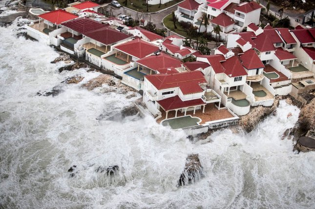 This Handout Photograph Released By The Dutch Department Of Defense Shows  An Ariel View Of Hurricane Irma Damage Wednesday On The Dutch Caribbean  Island Of ...