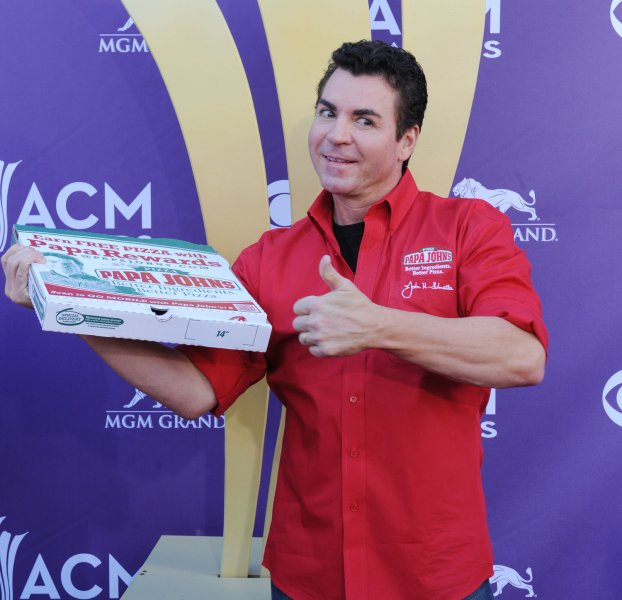 Papa John's Pizza CEO John Schnatter says that protests have been bad for his business. Photo by Jim Ruymen/UPI