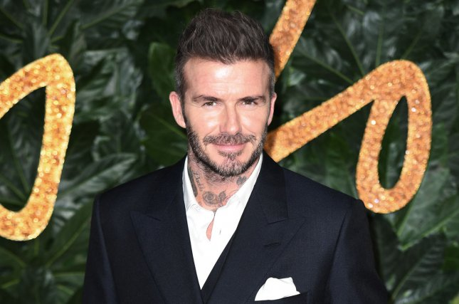David Beckham kept his cool after James Corden swapped out his new statue with a terrible version and filmed his reaction. File Photo by Rune Hellestad/UPI